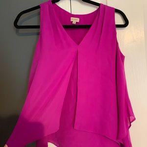 Fuchsia sleeveless blouse
